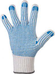 Strickhandschuhe mit blaue Noppen