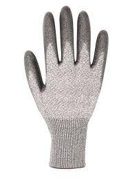 Strickhandschuhe 3721 aus Spezialfasern, grau/schwarz