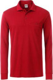 Herren Workwear Polo mit Brusttasche langarm James & Nicholson JN 866