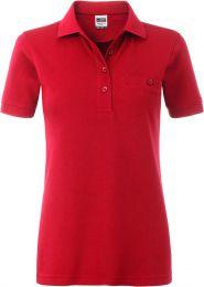 Damen Workwear Polo mit Brusttasche James & Nicholson JN 867