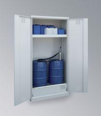 Chemikalienschrank für zwei 60L - Fass CHS-2FAS 950