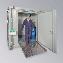 Brandschutzcontainer BSC 2-CL mit Einflügliger Tür