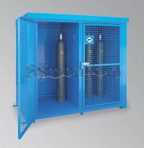 Gasflaschenlager Stahl, mit Bodengruppe Typ GFL-F90-32.21