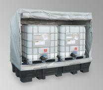 PE Wanne m. Wetterschutzaufsatz PE-KT-EP1 für 2 IBC
